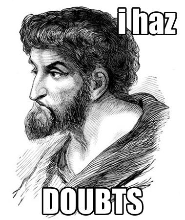 I haz doubts - Thomas the Apostle sketch