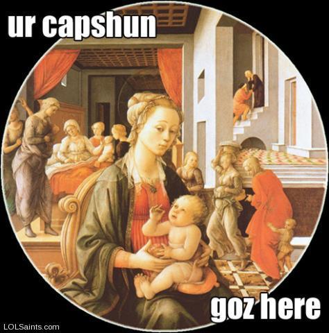 Mary and Jesus - ur capshun goz here