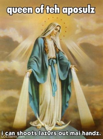 In heaven, everyone has a power level of at least 710! Mary Queen of Apostles