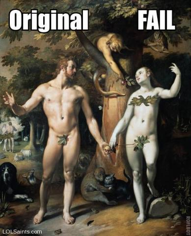 The Original Fail - Adam and Eve in the Garden of Eden