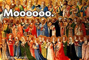 Communion of Saints go Mooooo