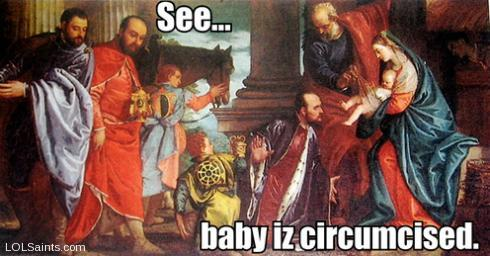 See... Baby iz Circumcised - Jesus at the Nativity