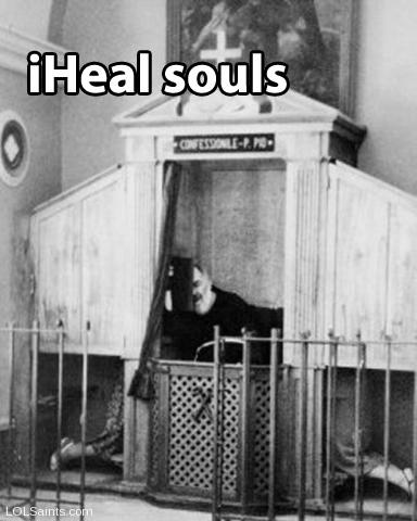 Padre Pio - iHeal Souls - in the Confessional