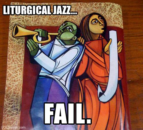 Liturgical Jazz... FAIL. - OCP Back Cover for Music Issue