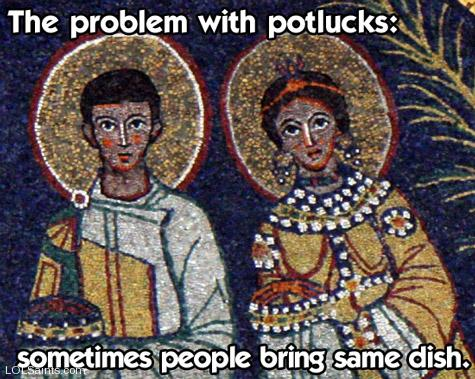 The problem with potlucks - sometimes people bring the same dish!