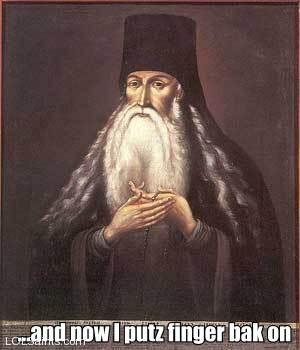 St. Paisius puts finger back on