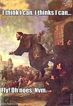 Saint Joseph of Cupertino - Levitating
