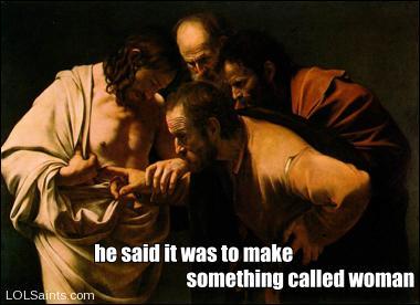 Jesus missing rib?