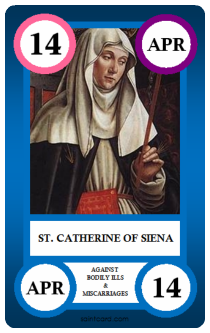 Saint Card - Catherine of Sienna